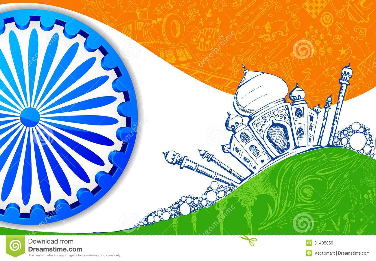 Indian Tricolor Background Royalty Free Stock Images ...