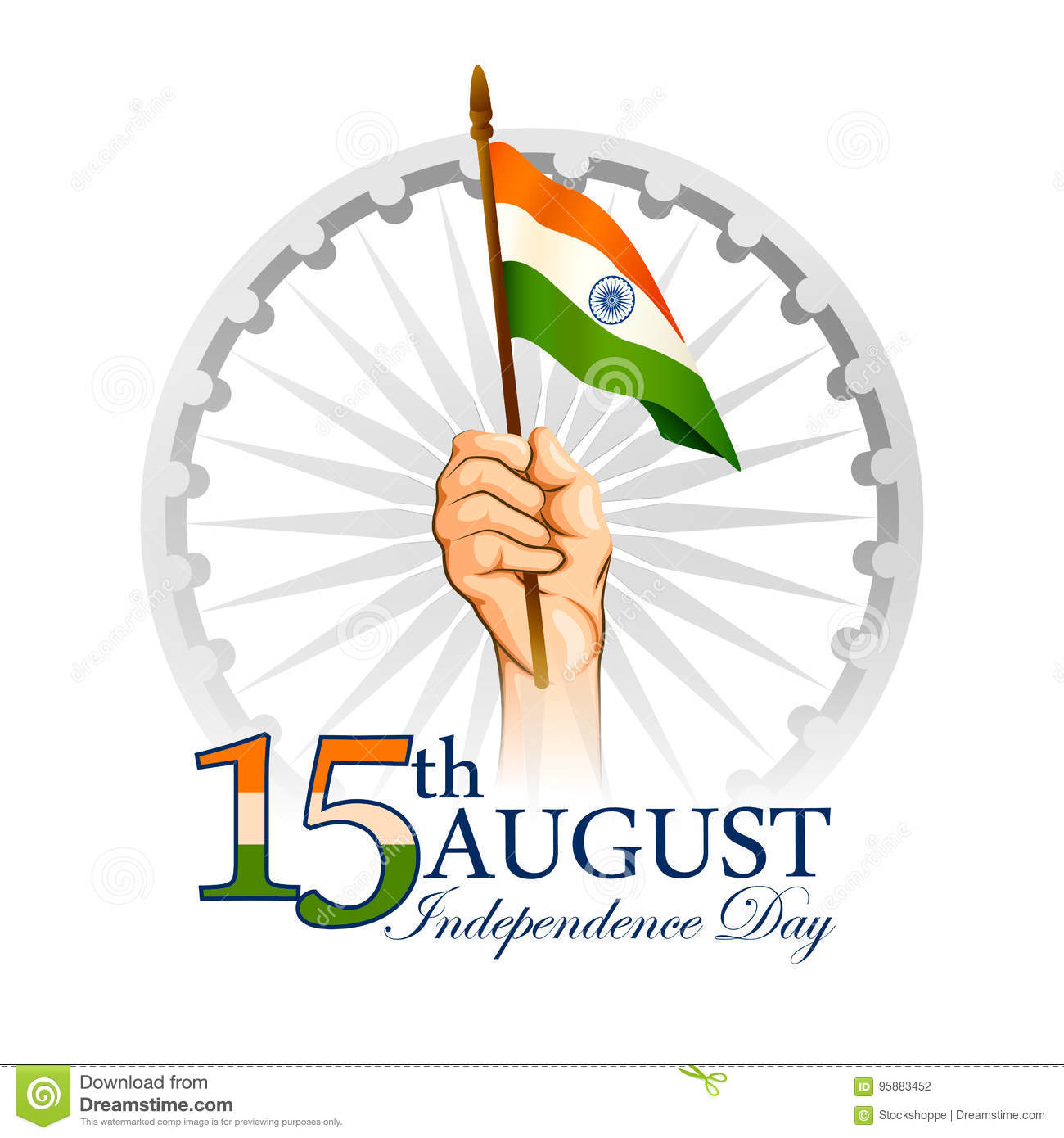Indian Tricolor Background For 15th August Happy Independence Day Of
