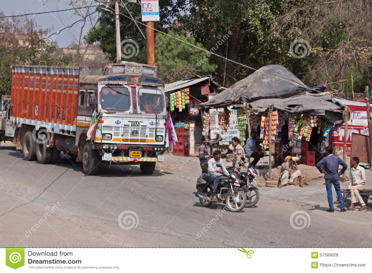 Editorial stock photo download indian truck stop