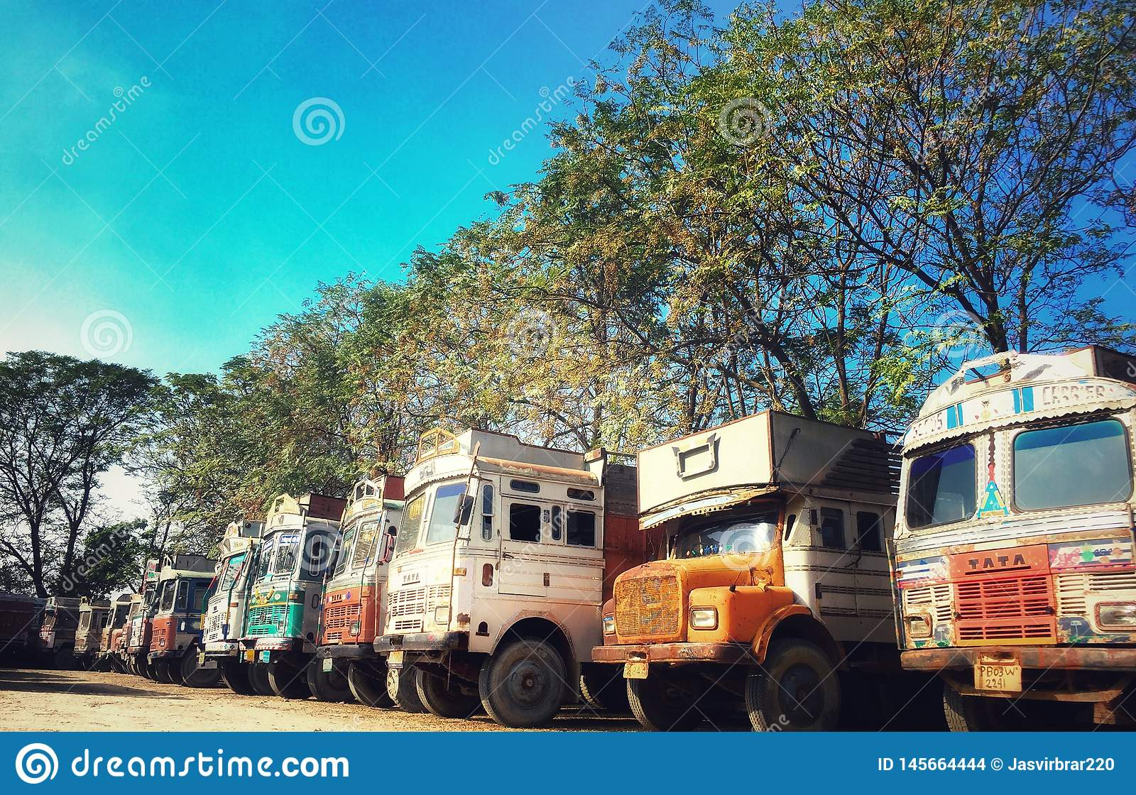 Indian trucks in truck union of india