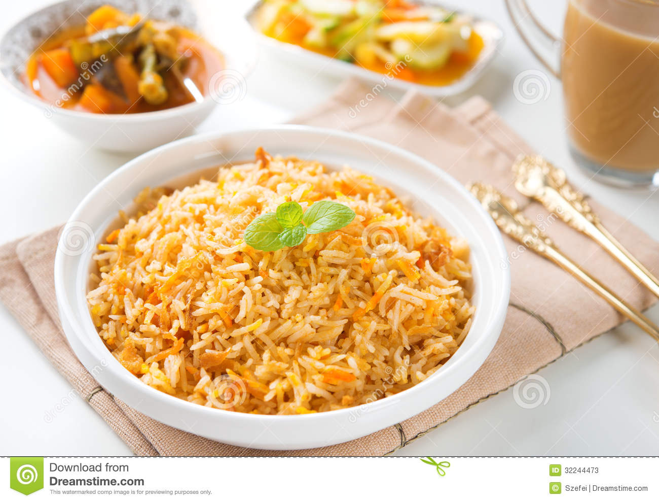 Indian vegetarian biryani rice stock photos image 32244473 for Art of indian cuisine