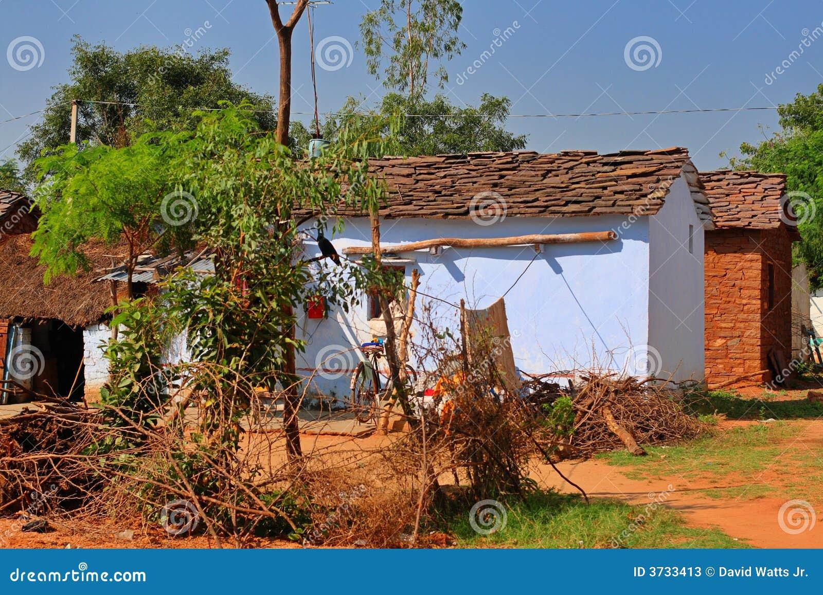 Indian Village Houses Stock Image Image Of Pradesh Rural 3733413