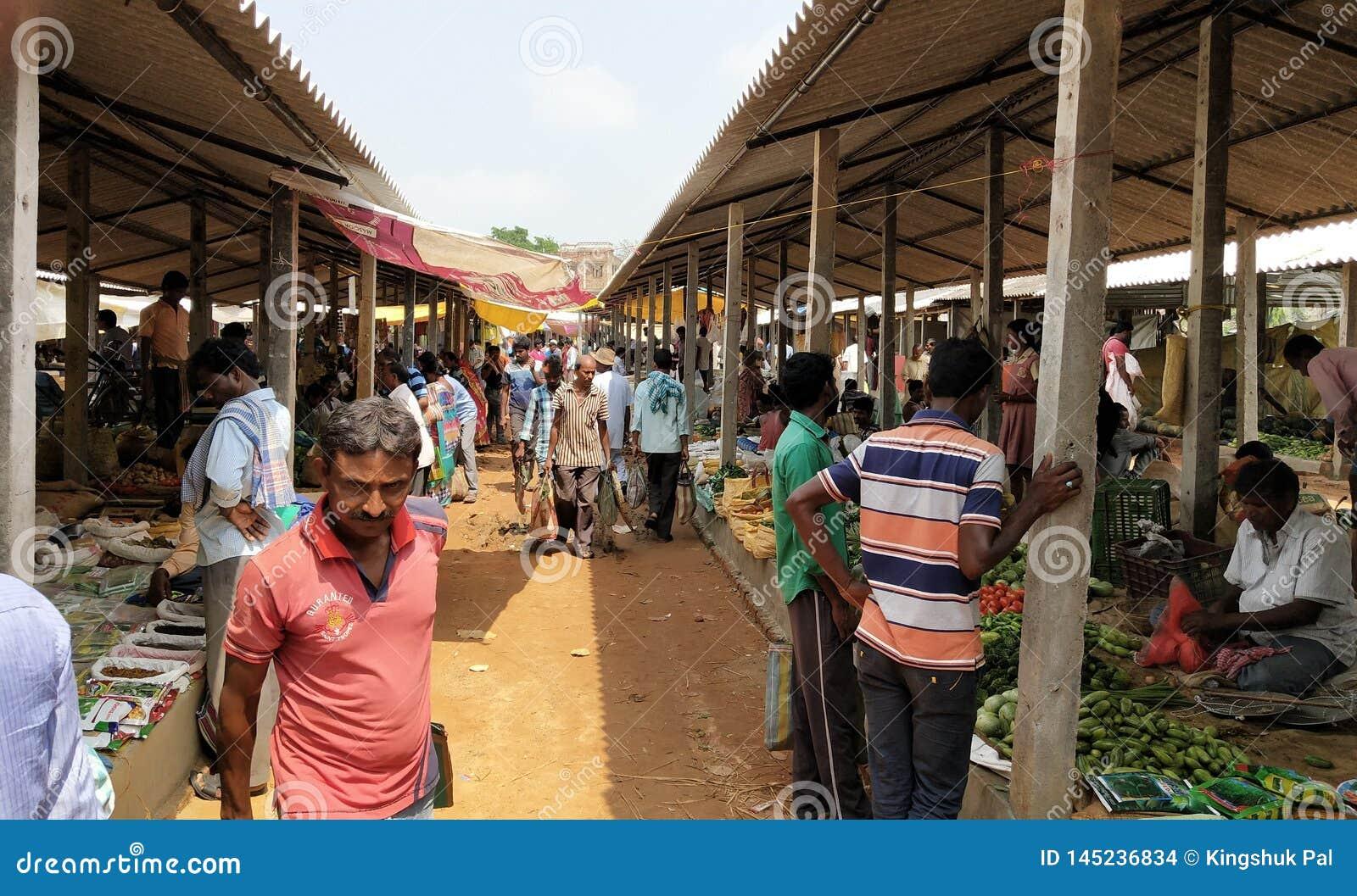 Indian, Village Sites Market Place, West Bengal, Paschim