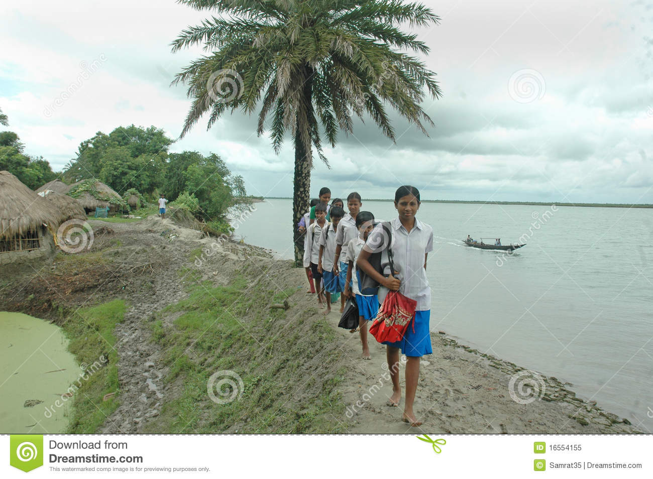 Indian Village Student Students Are Going To Village Schoolits A Far More Distance