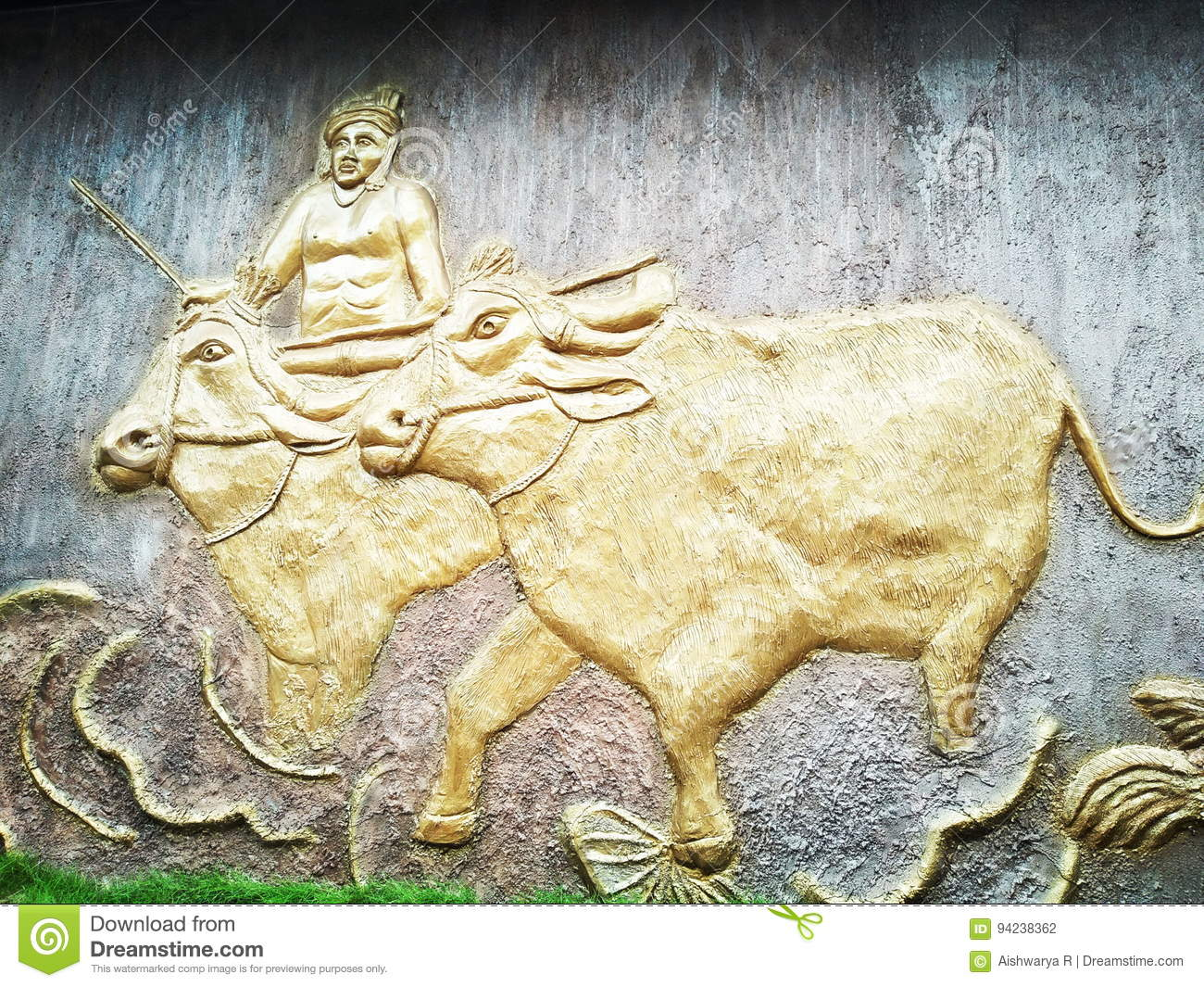 Indian Wall art stock photo. Image of wall, horn, indian - 94238362