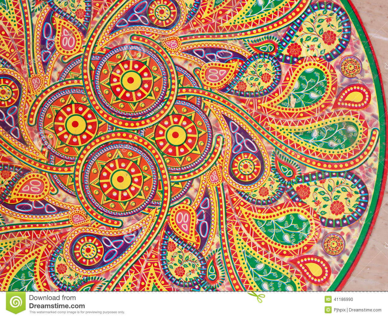 Indian wall pattern stock photo image 41186990 Design patterns wall painting