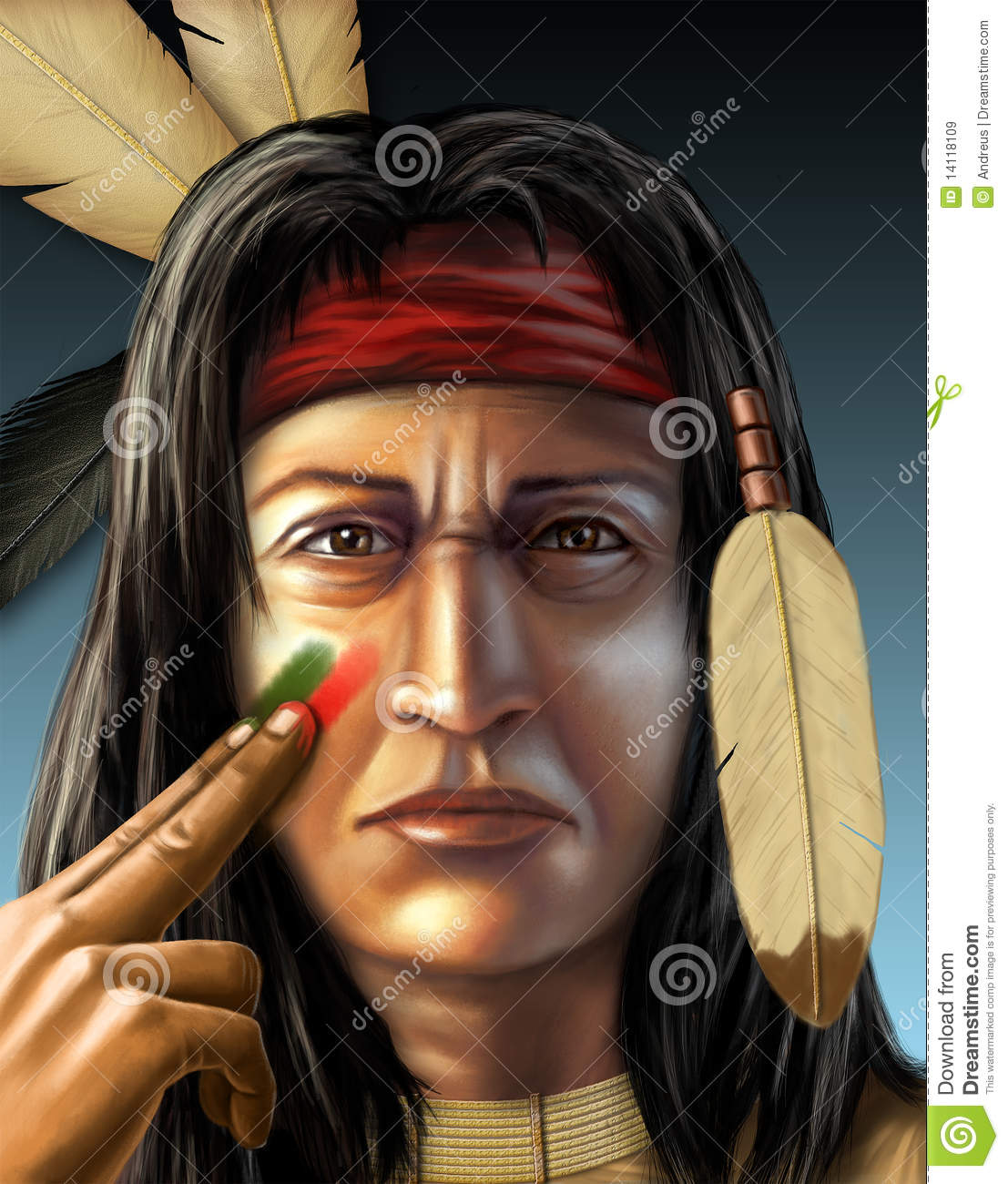 Native Indian Face Paint