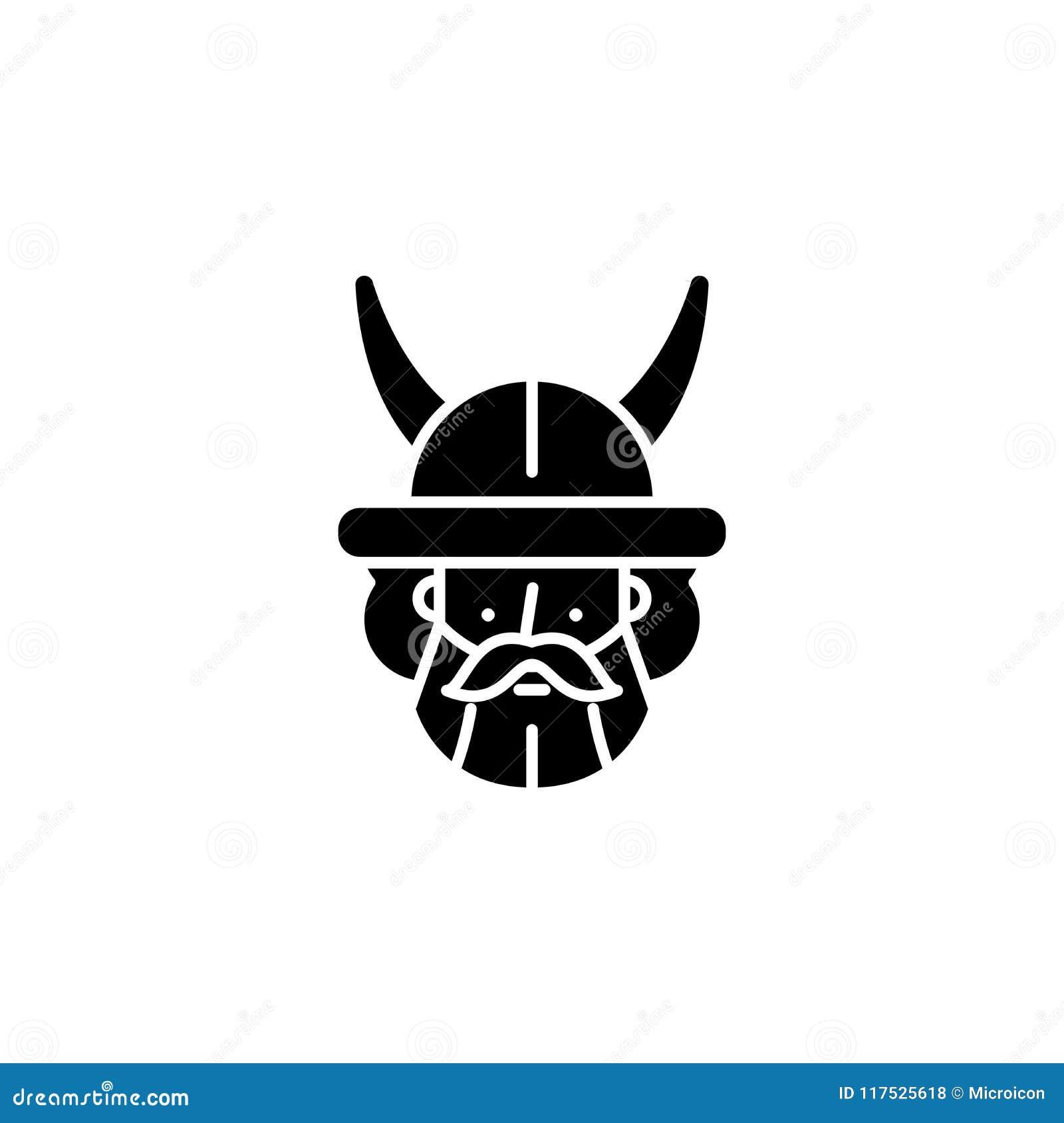 Indian Warrior Black Icon Concept Indian Warrior Flat Vector Symbol