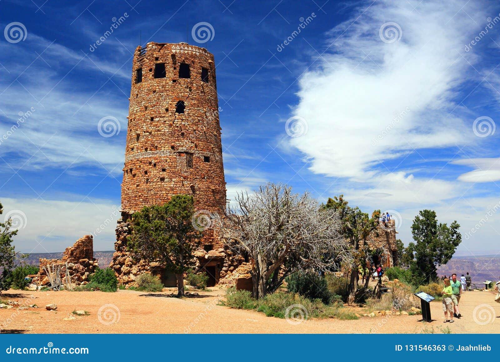 Watchtower At Desert View Grand Canyon National Park Arizona