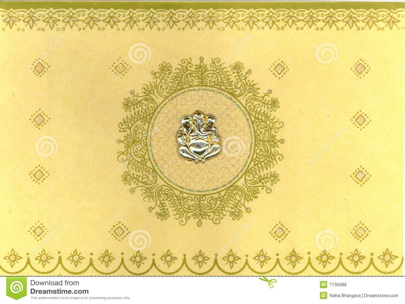 Indian Wedding Card Stock Illustration Illustration Of Card