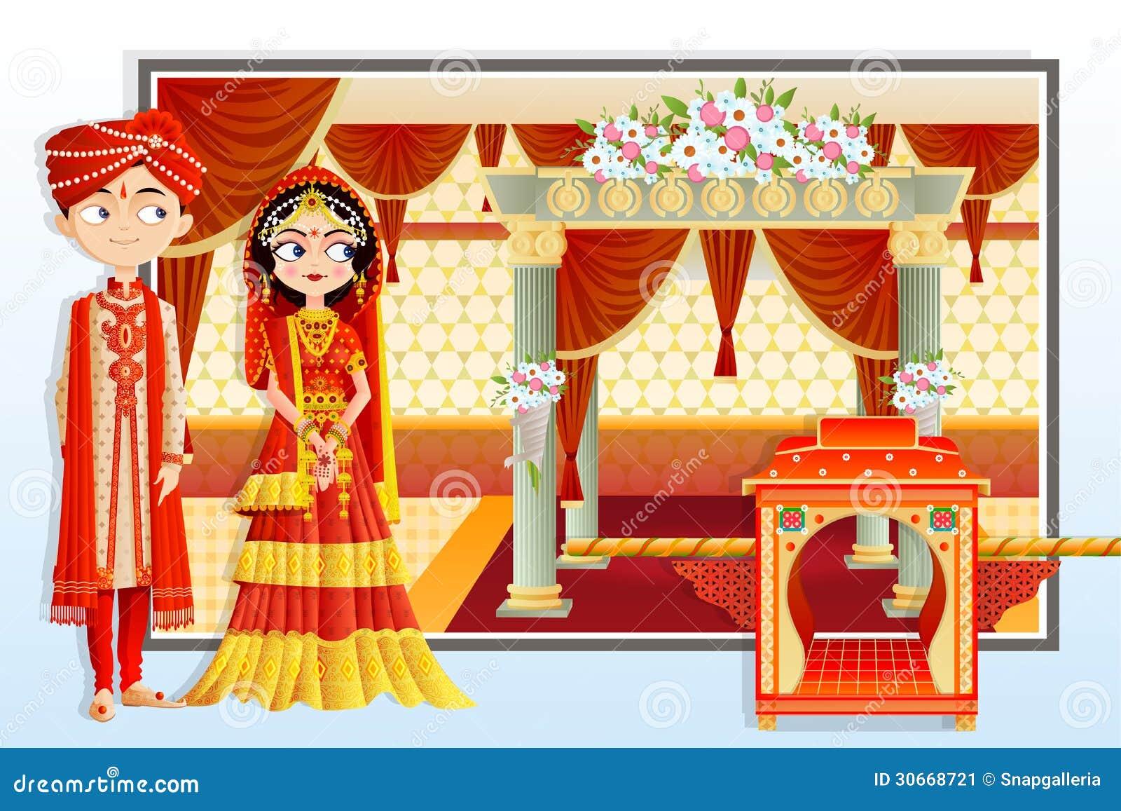 indian wedding couple stock image   image 30668721
