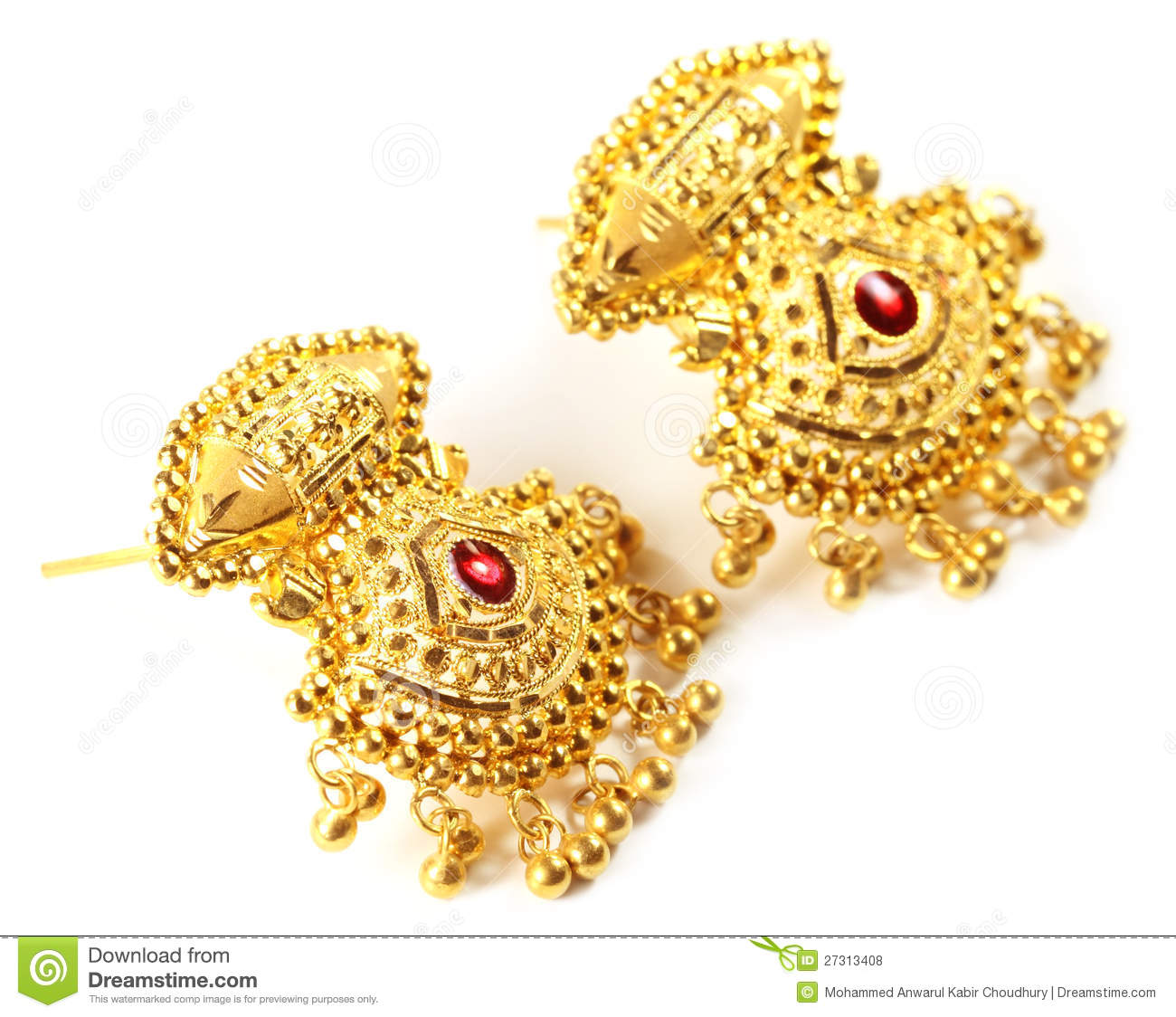 Indian Wedding Earrings For Bride Stock Photo - Image of accessory ...