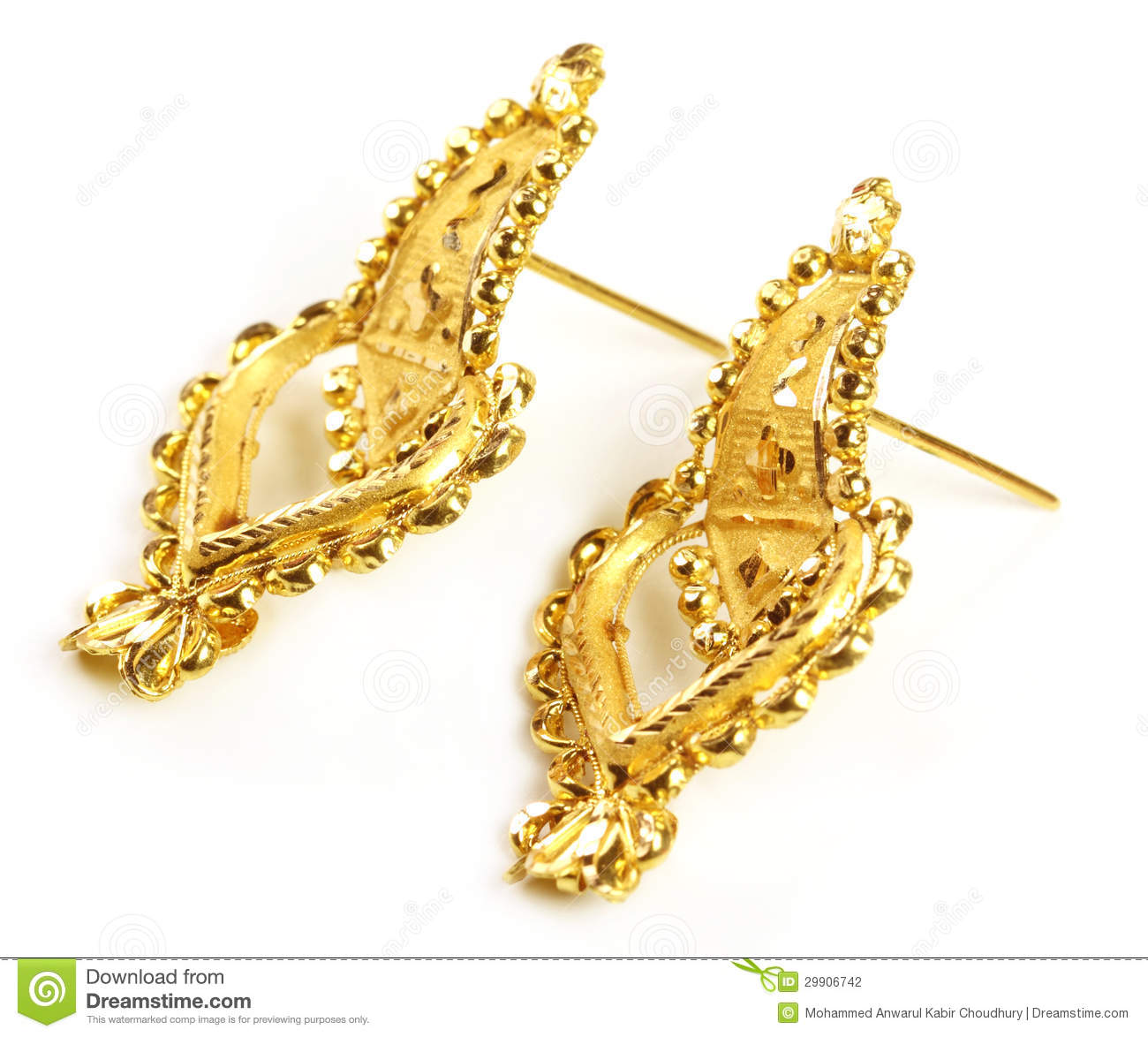 Wedding Gold Jewelry For Indian Bride Stock Photo Image 27151950