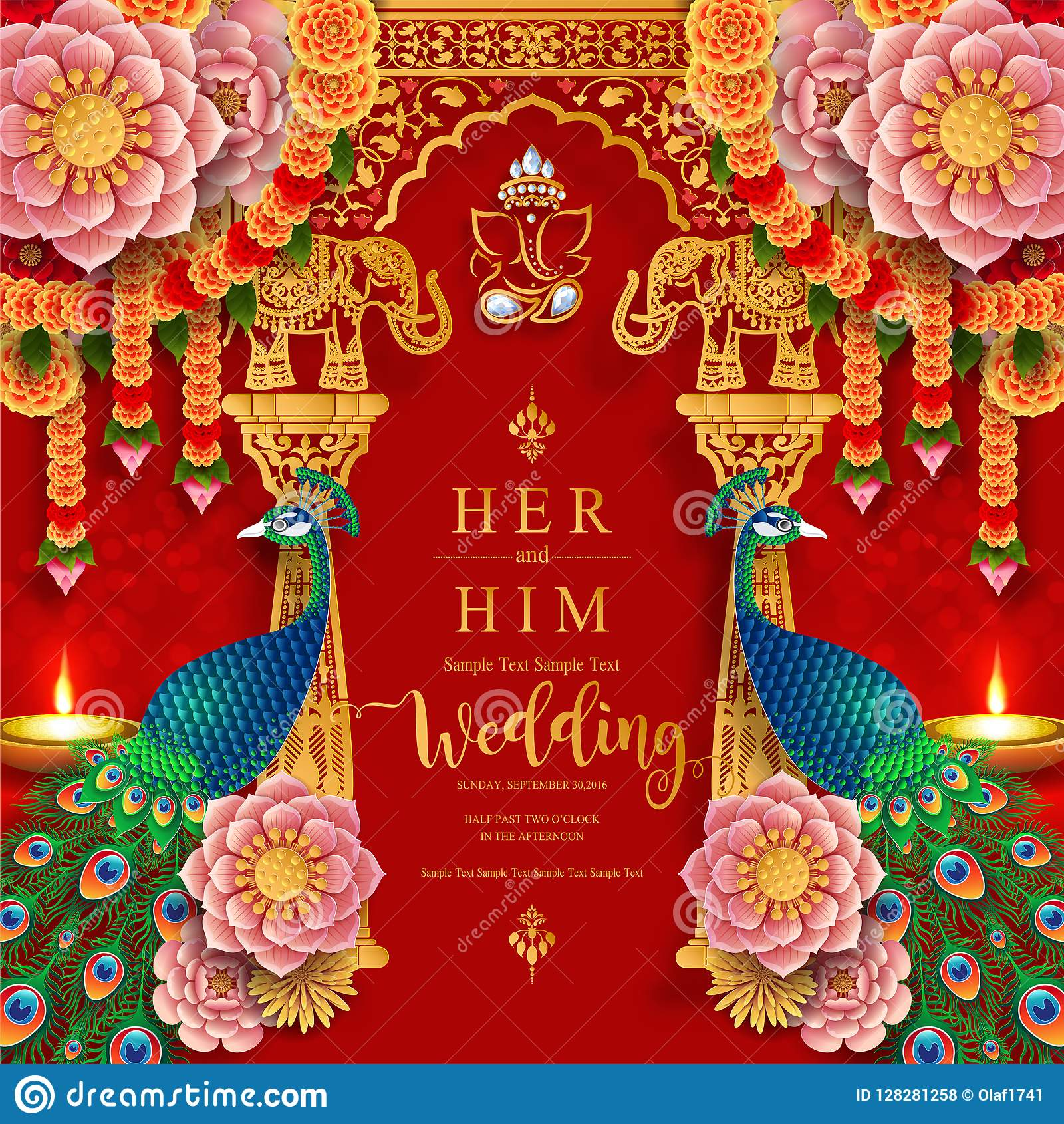Indian Wedding Invitation Carddian Wedding Invitation Card Templates