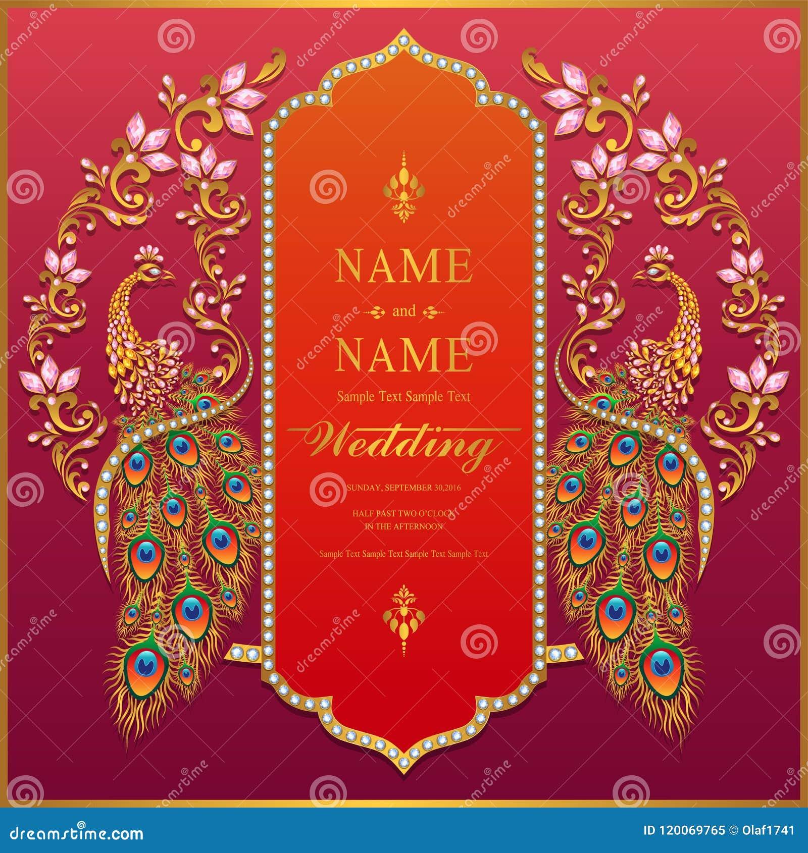 Background Indian Wedding Invitation Card Design