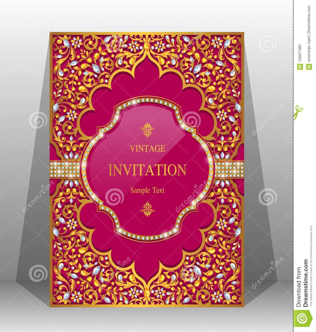 Wedding Invitation Card Templates . Stock Vector - Illustration of ...