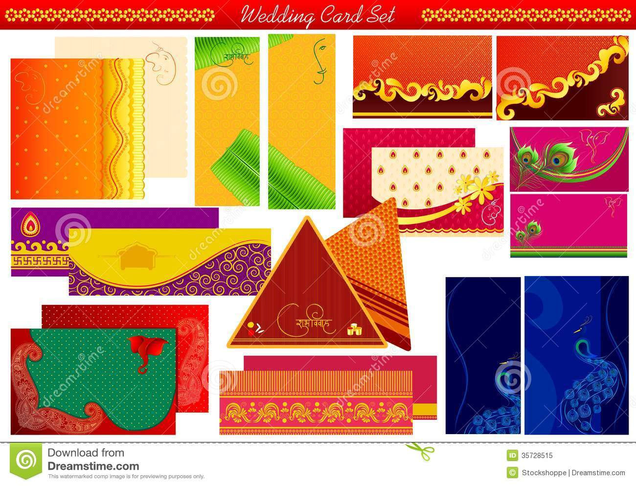 Indian wedding invitation card stock vector illustration of indian wedding invitation card stopboris Gallery