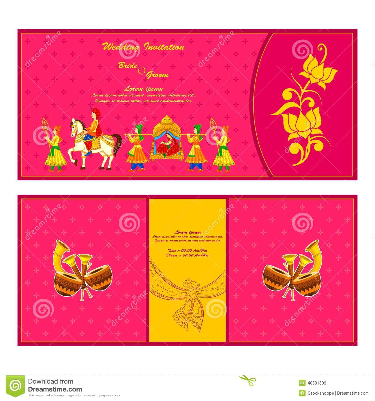 Indian wedding invitation card stock vector illustration of card indian wedding invitation card stopboris Image collections