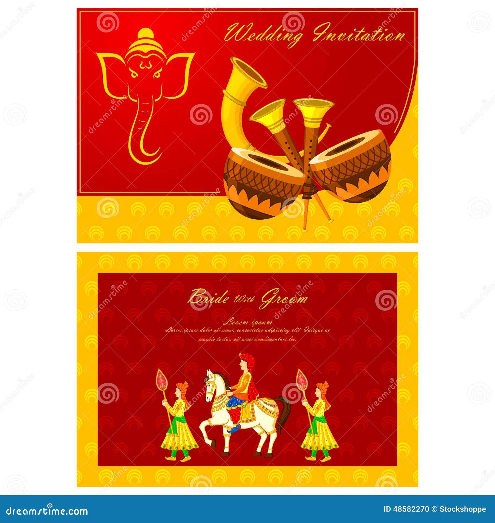 Luxury wedding invite vector ornament invitations and hindu wedding cards vector stopboris Gallery