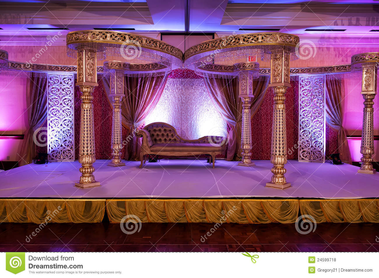 Indian Wedding Mandap Stock Photo Image Of Spice Hinduism 24599718