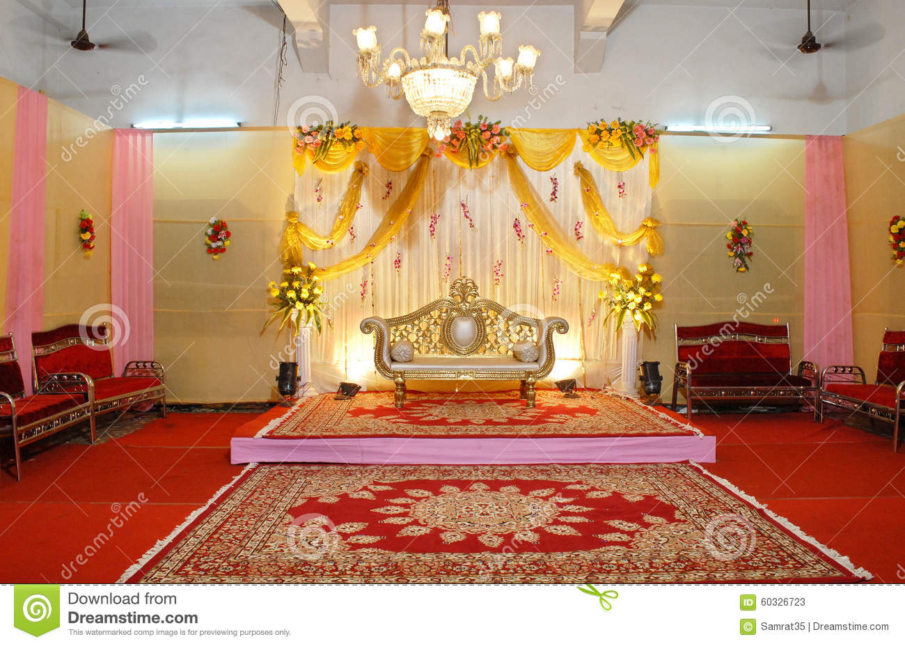 Indian Wedding Mandap Stock Image Image Of Destination 60326723