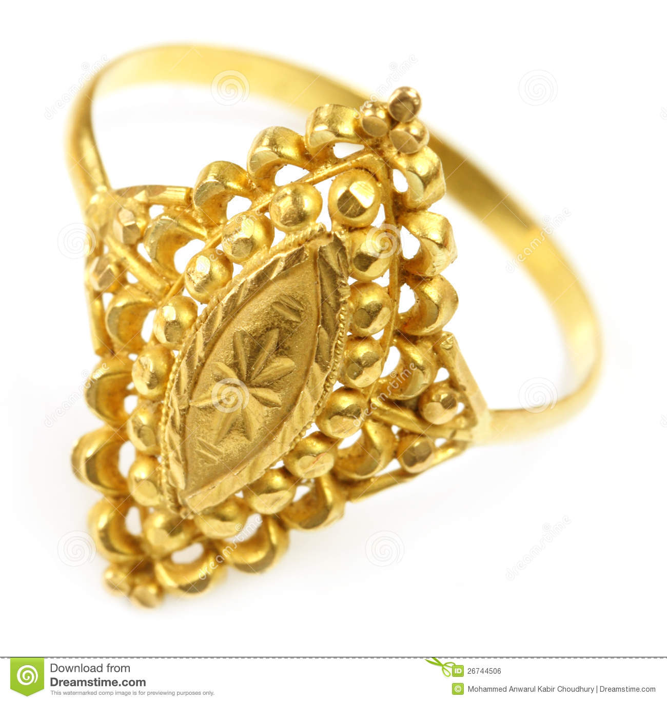Indian Wedding Ring For Bride Royalty Free Stock Image