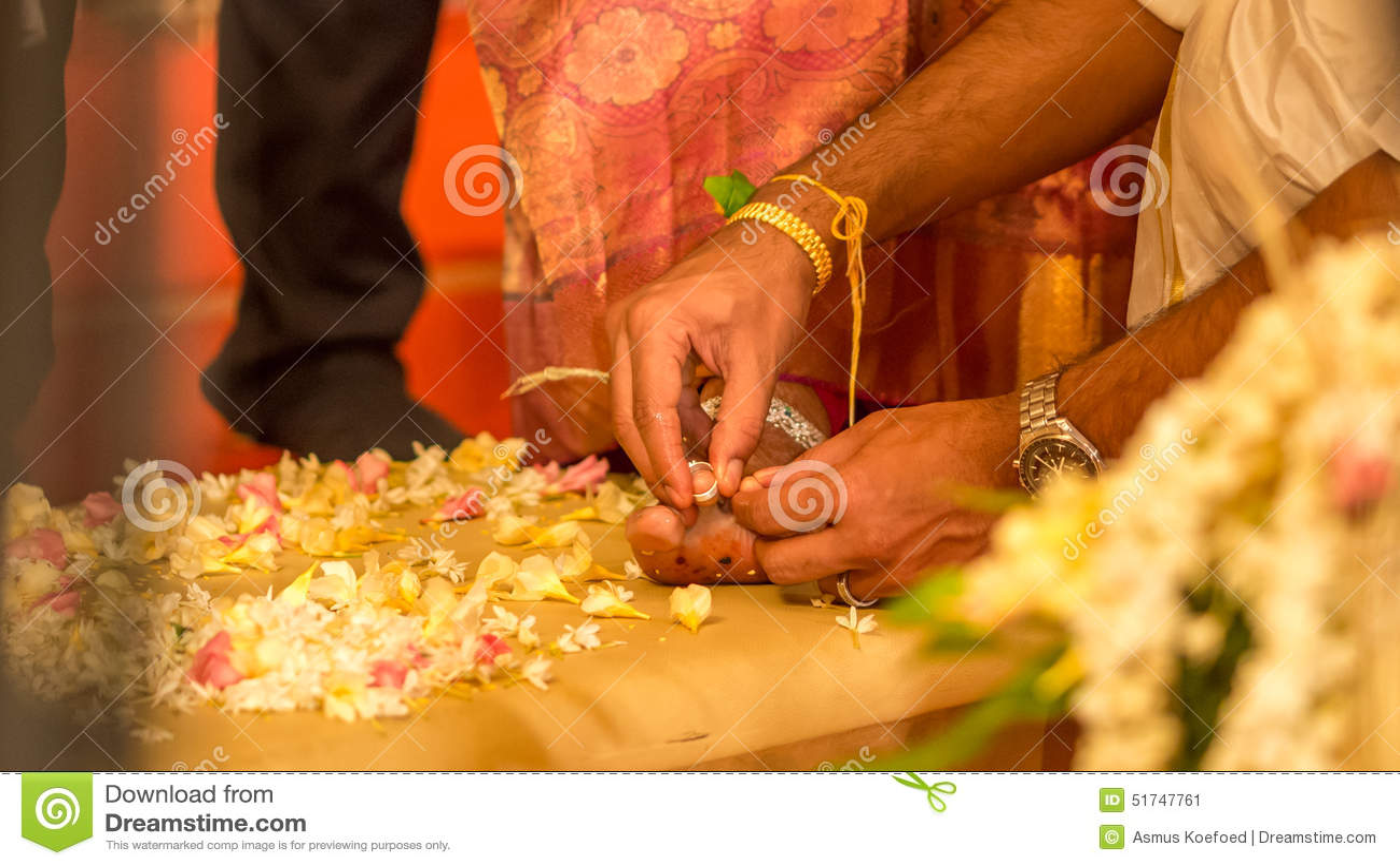 Indian Wedding Ring On Brides Foot Stock Image Image Of Bridegroom