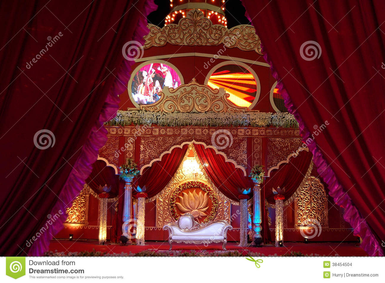 Indian wedding stage mandap stock photo image of culture for Decor india jaipur