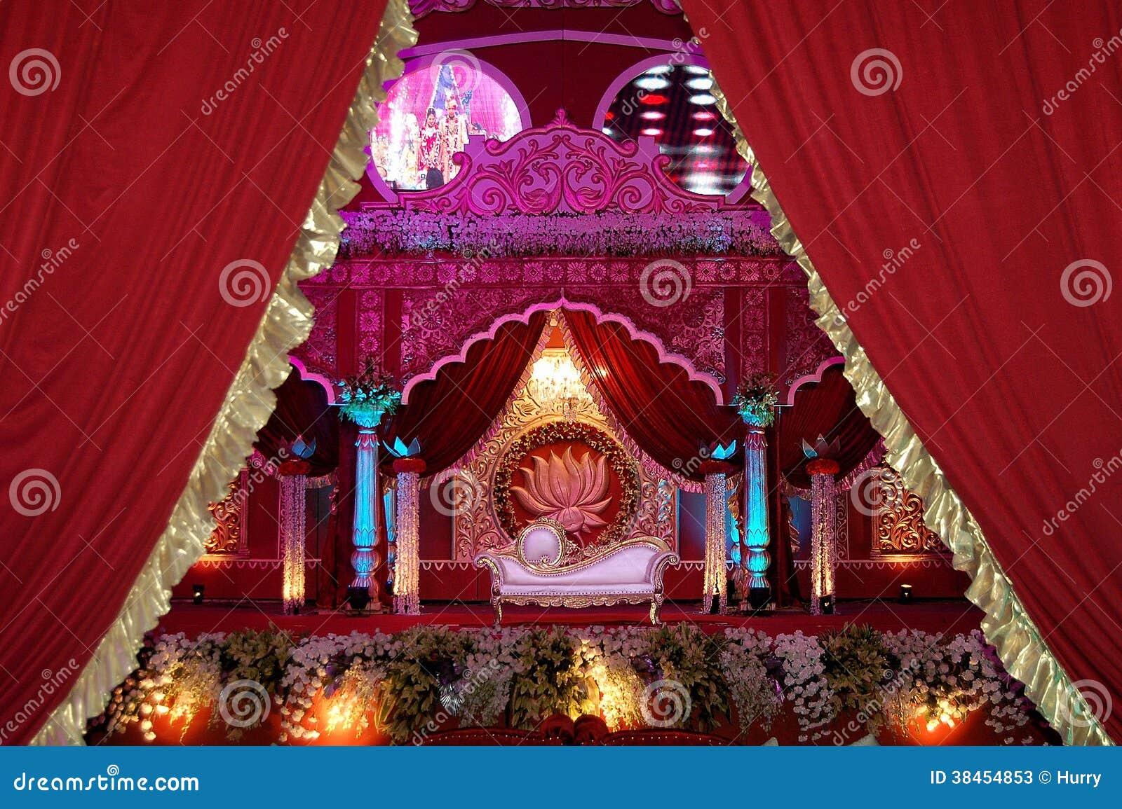 indian wedding stage mandap stock photos  image 38454853