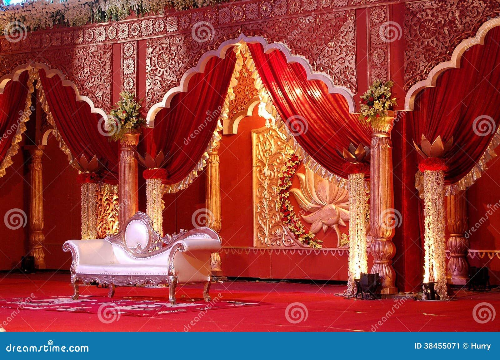 Indian wedding stage mandap stock image image 38455071 for Decor india jaipur