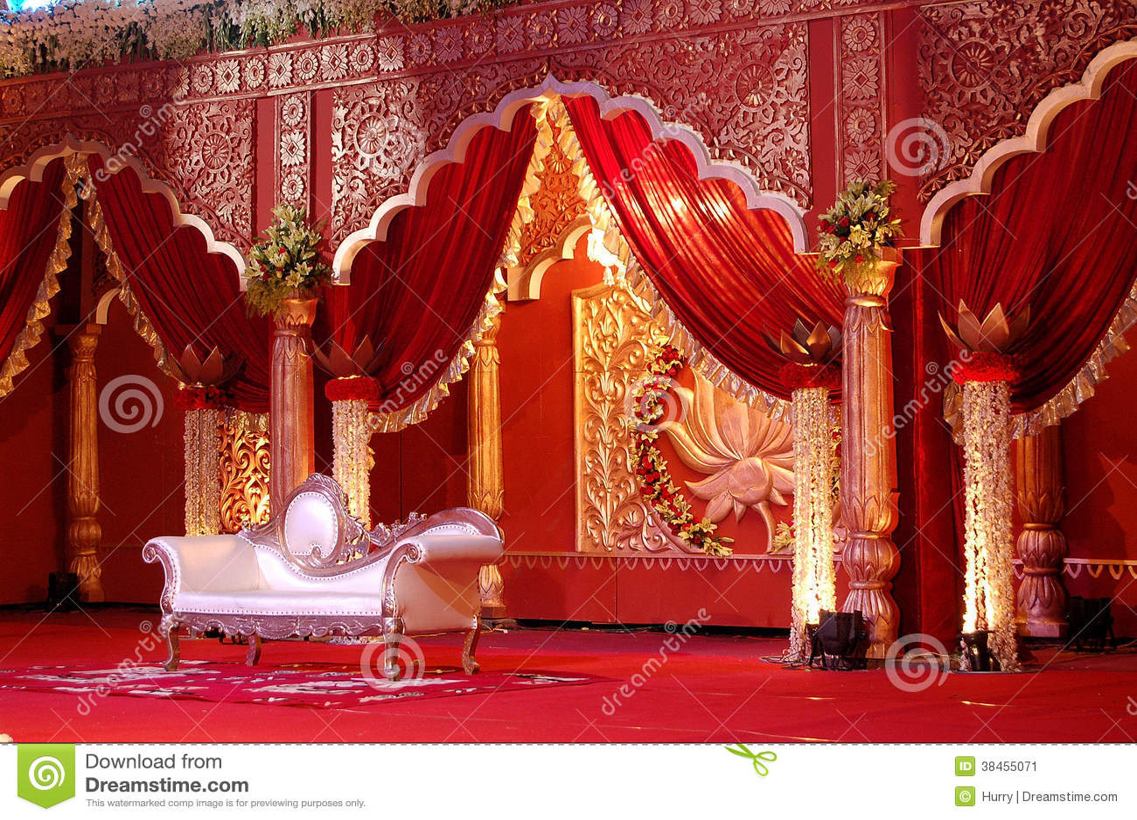 Indian Wedding Stage Mandap Royalty Free Stock Image