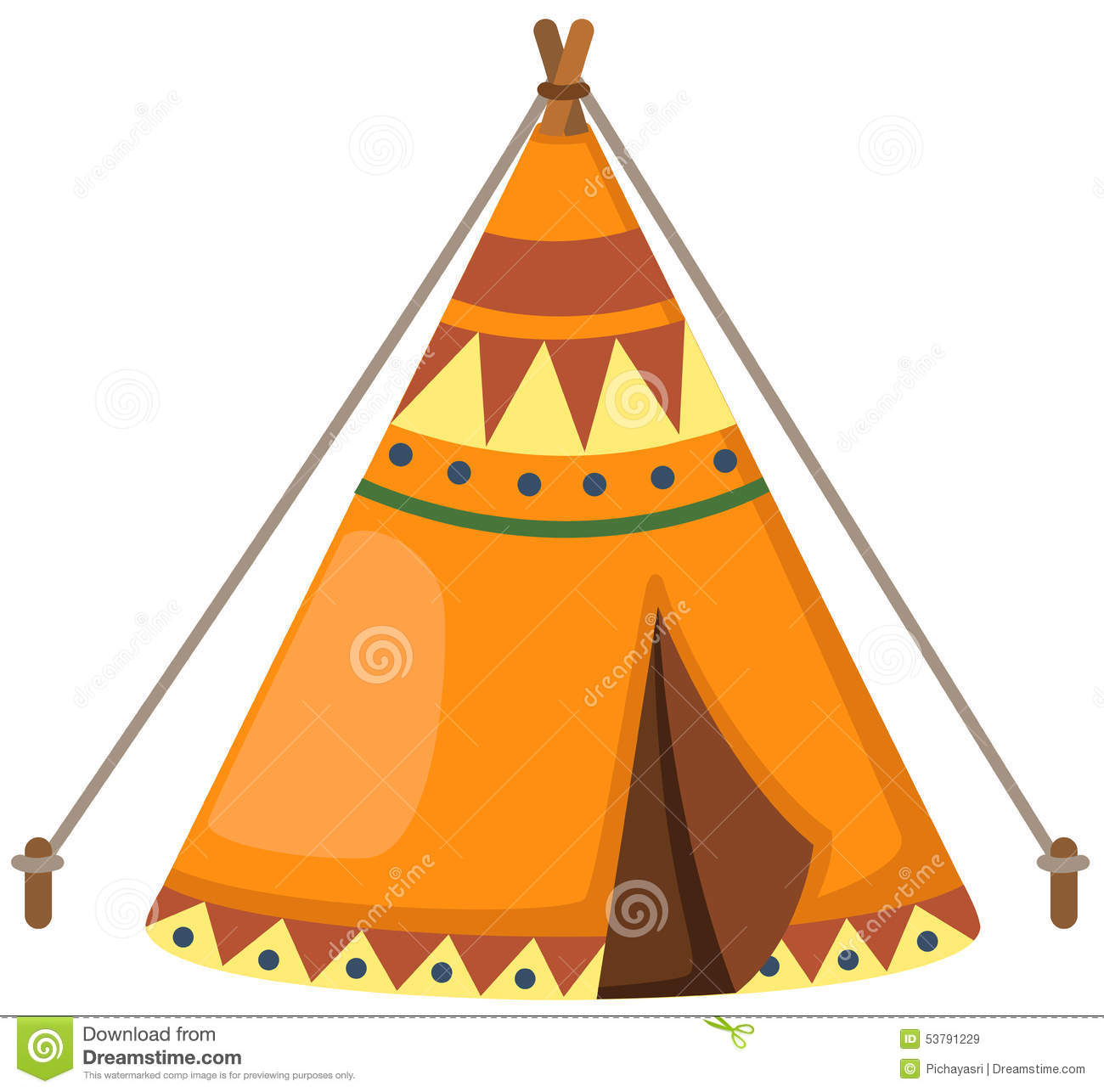 Indian Wigwam Stock Vector Image 53791229