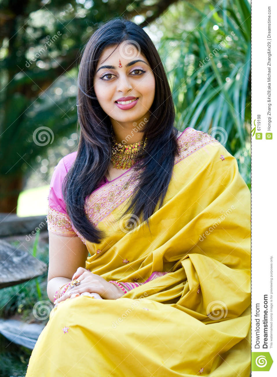 Indian Woman Stock Photo Image Of Asia Attire Alone
