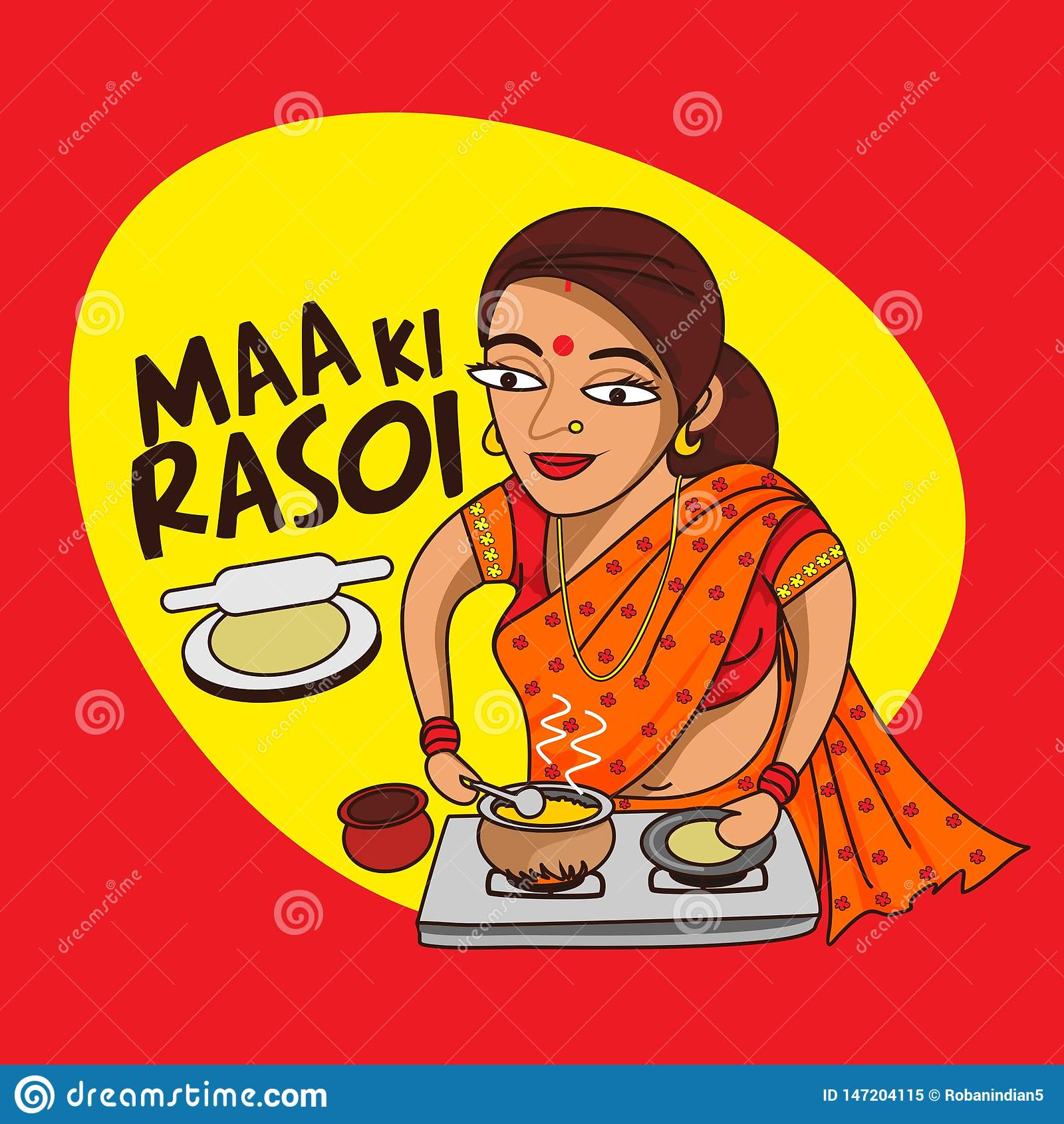 Indian Woman Cooking Stock Illustrations 75 Indian Woman Cooking Stock Illustrations Vectors Clipart Dreamstime