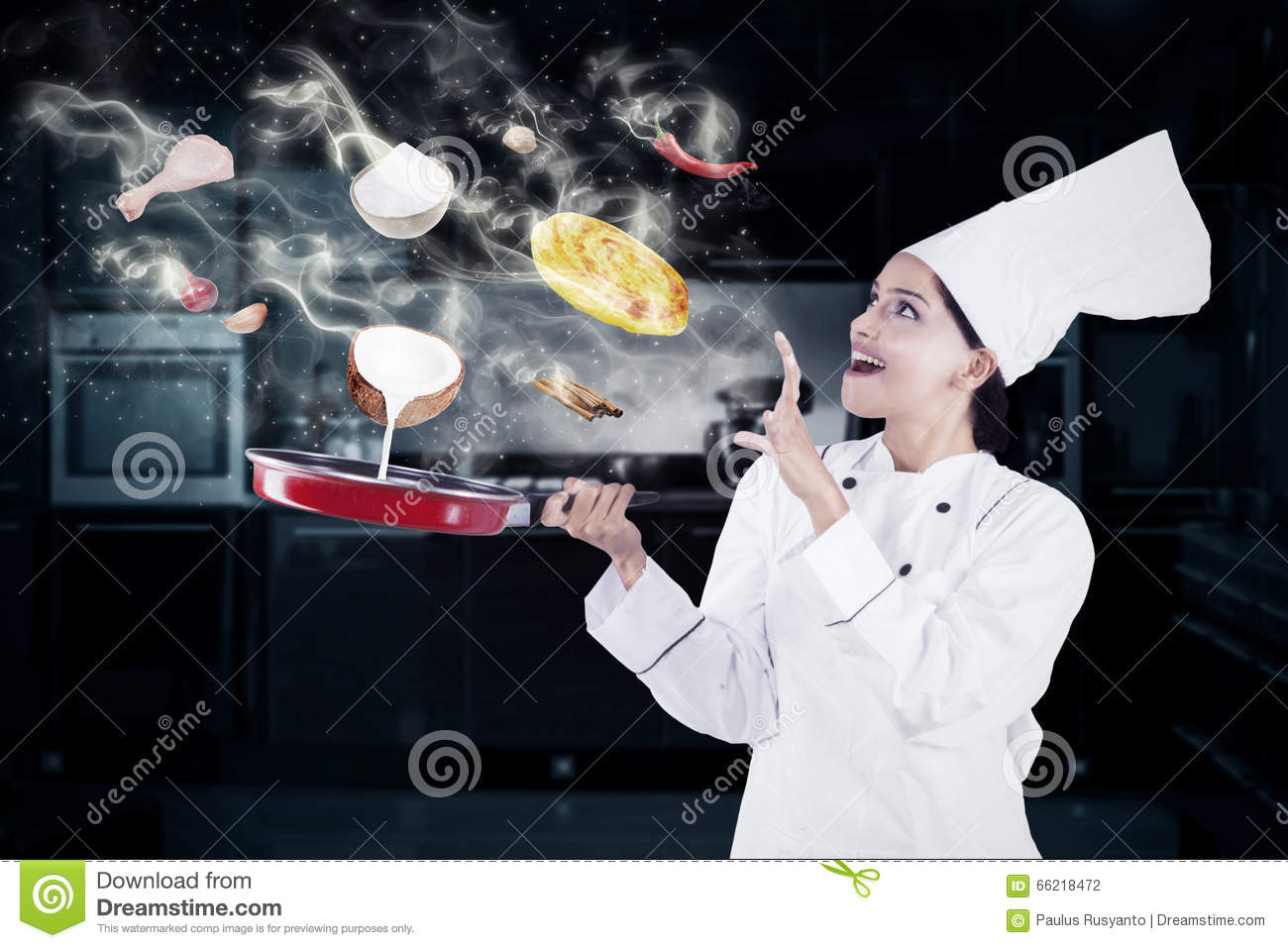 https://thumbs.dreamstime.com/z/indian-woman-cooking-magic-female-chef-kitchen-wearing-chef-uniform-66218472.jpg Indian Woman Cooking