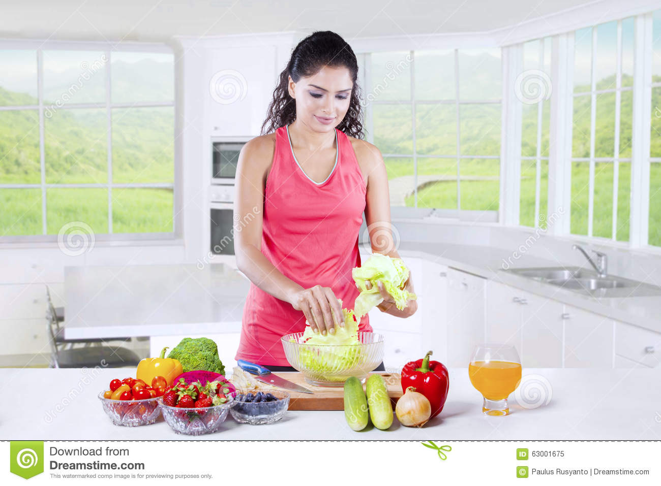 https://thumbs.dreamstime.com/z/indian-woman-cooking-superfood-home-beautiful-sportswear-preparing-healthy-kitchen-63001675.jpg Indian Woman Cooking