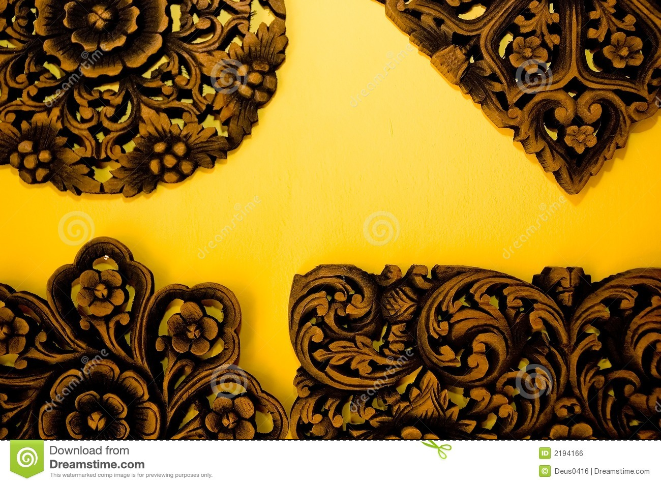 Indian Wood Carvings Royalty Free Stock Image - Image: 2194166