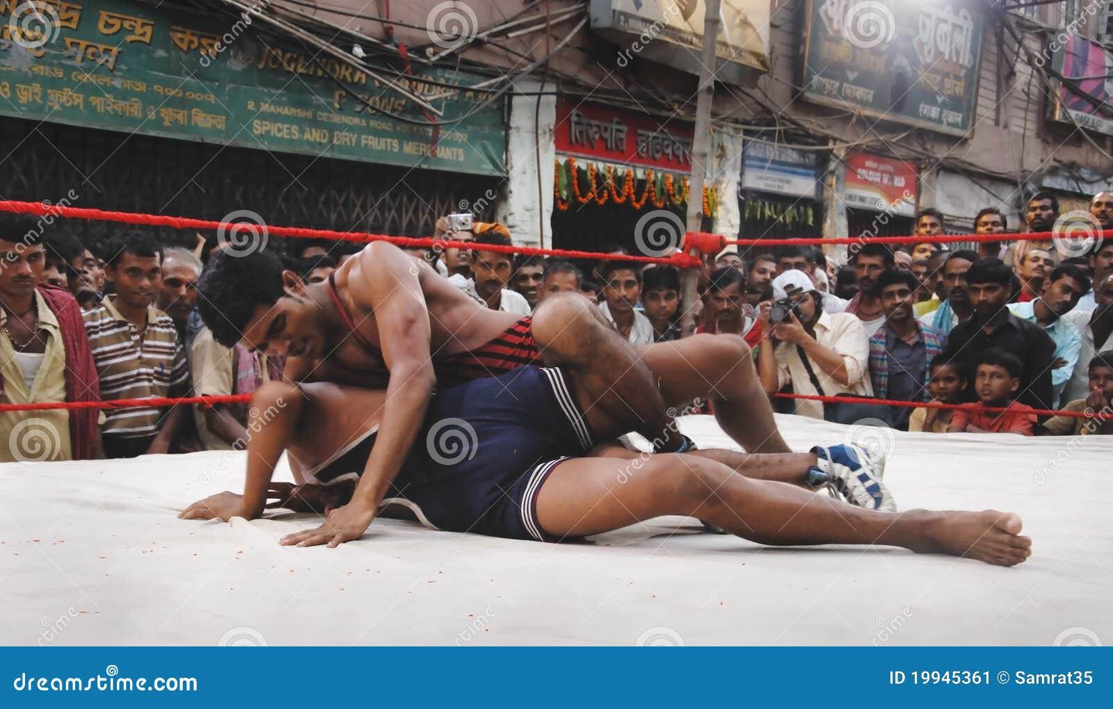 indian wrestler kids Indian Wrestling Stock Image