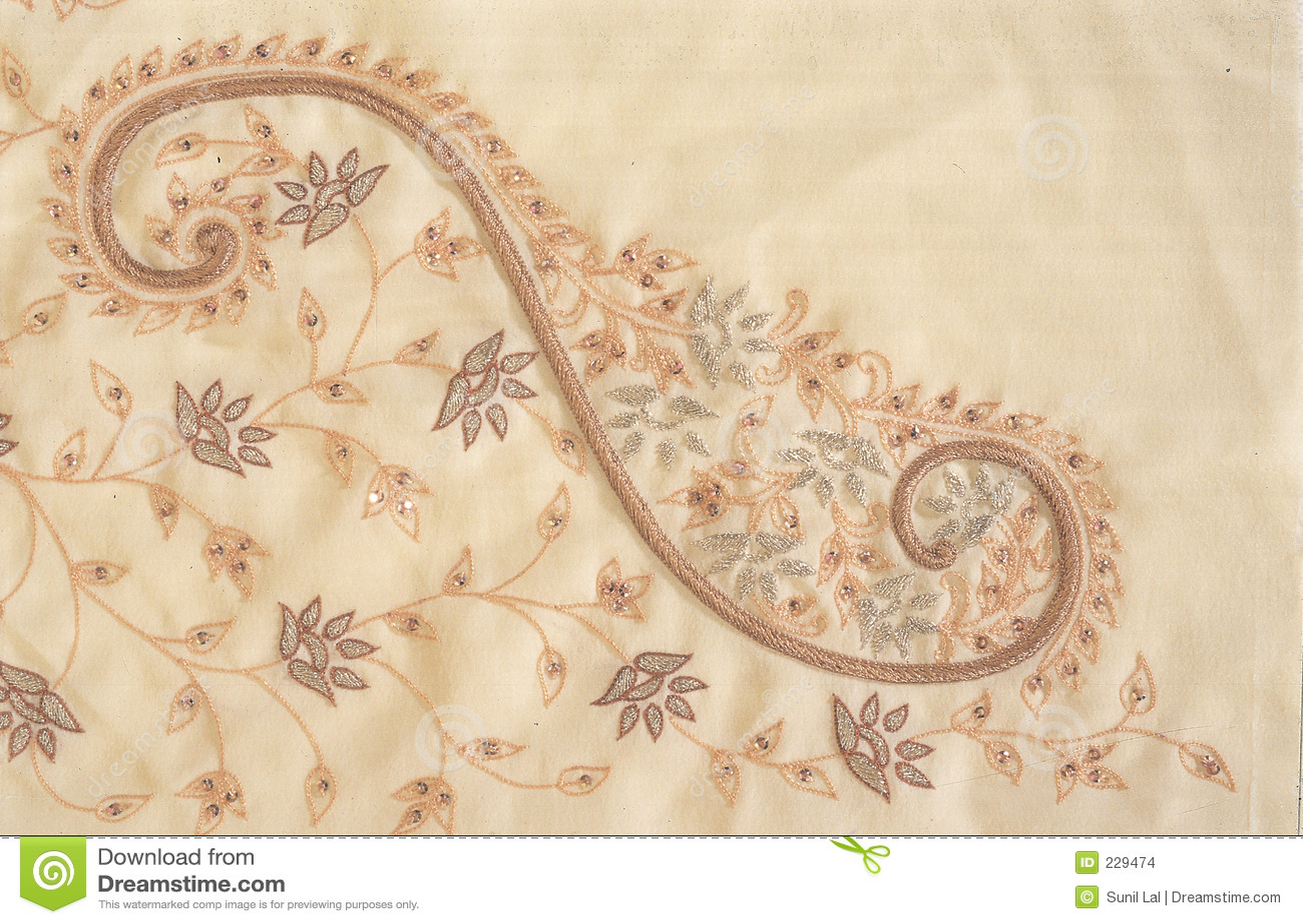 Indian Zardozi Embroidery Work Stock Photo Image Of Garments