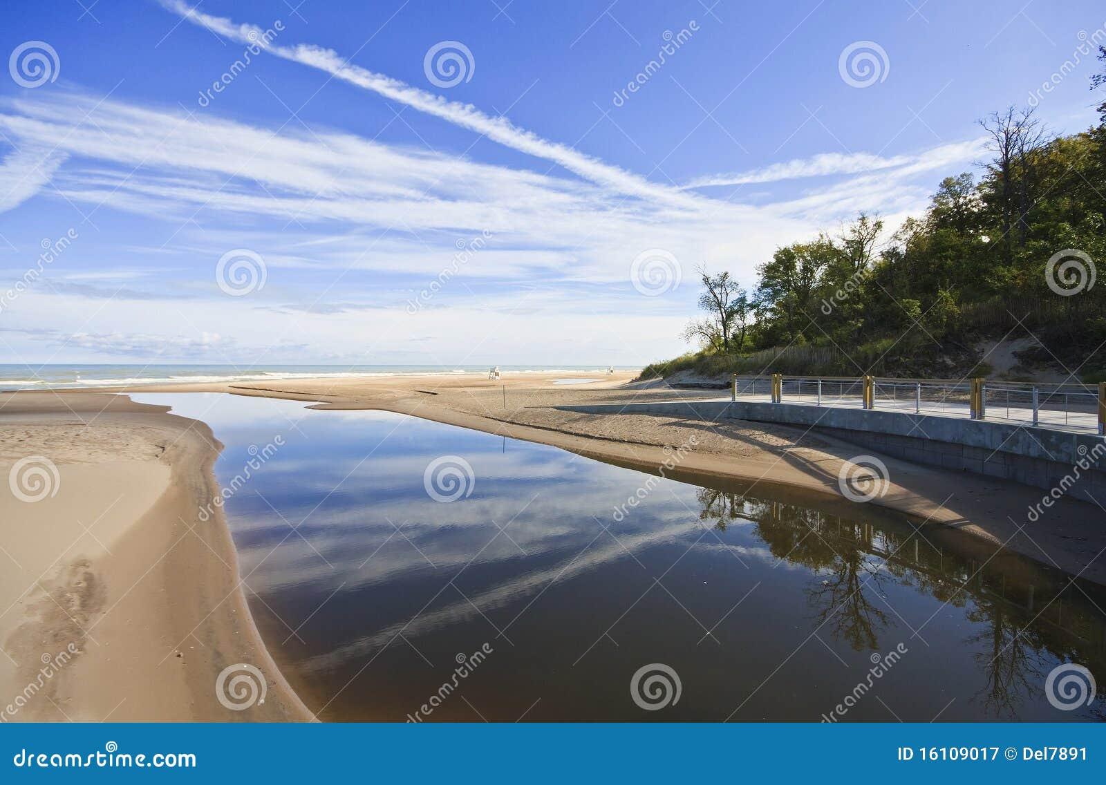 Indiana Dunes State Park Main Beach