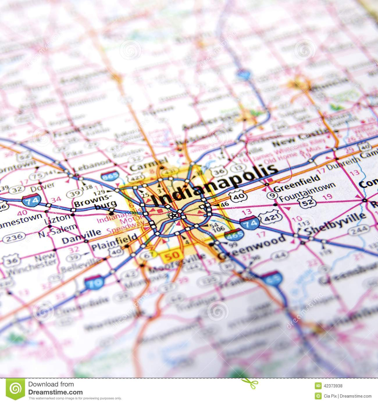 IndianaUSA Map Royalty Free Stock Images Image - Indiana on a map of the usa
