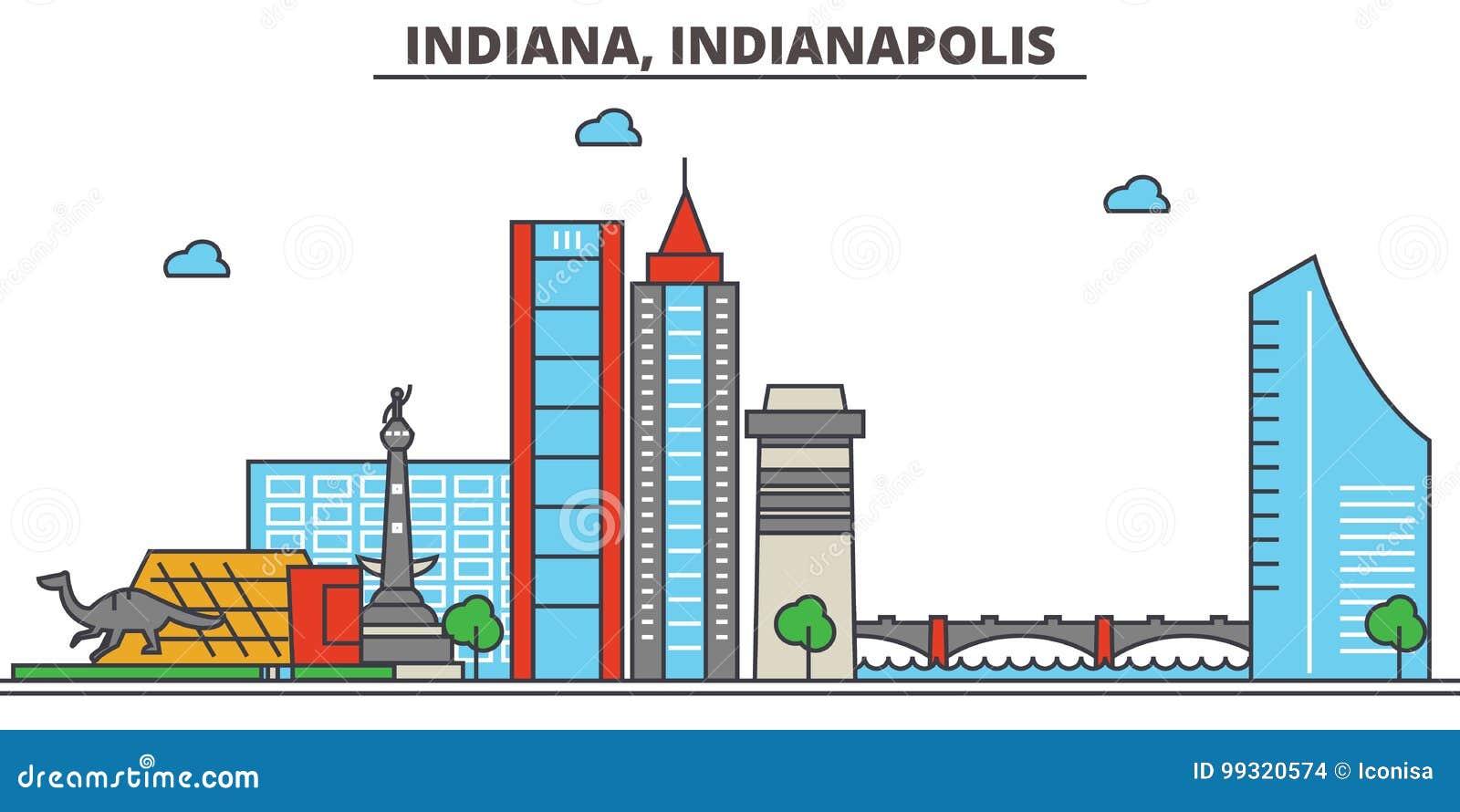 Indiana, Indianapolis De Horizon van de stad