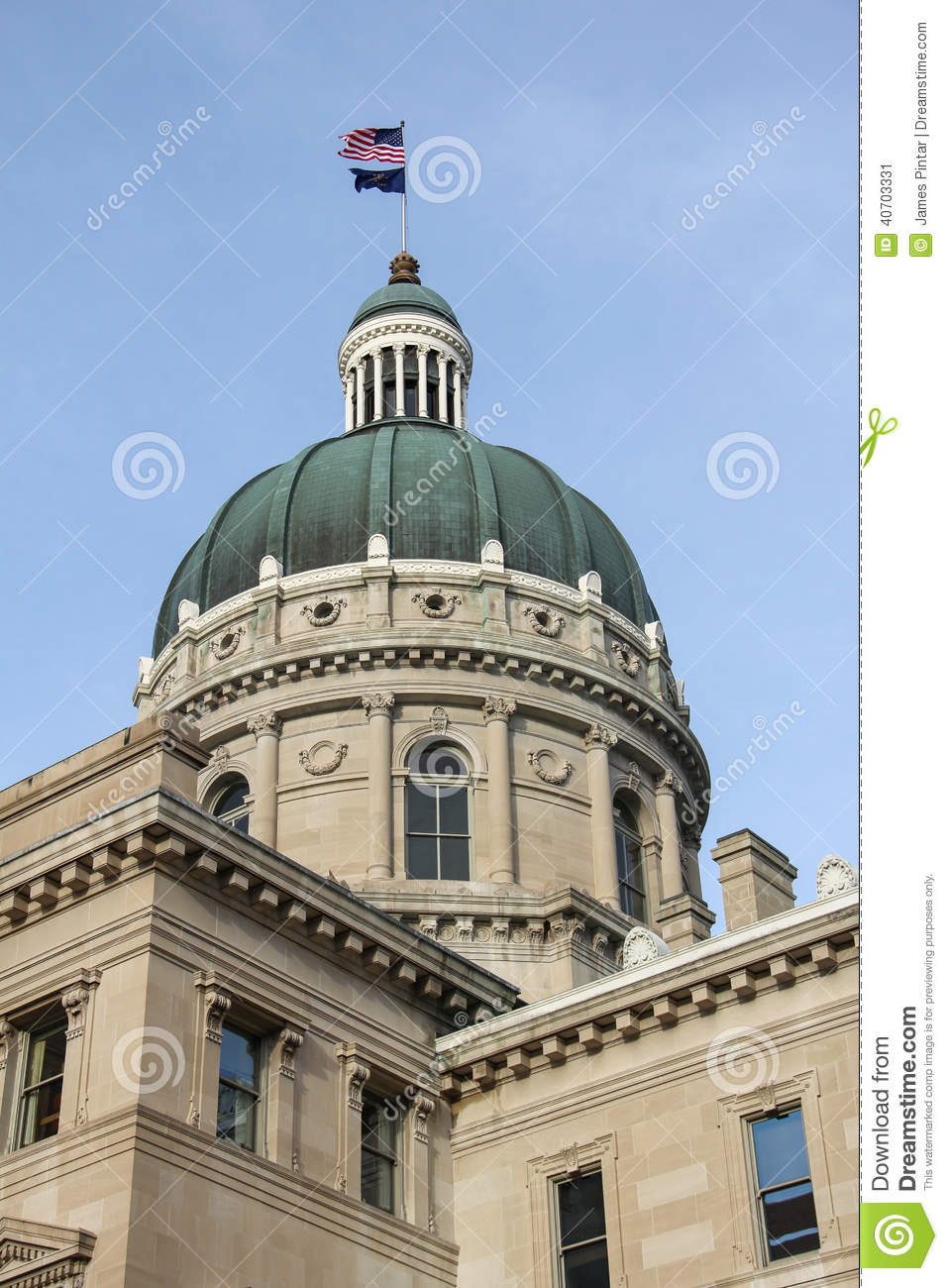 Indiana State Capitol Dome Stock Photo Image 40703331
