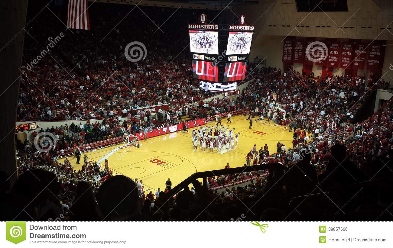 Indiana Universitys Versammlung Hall Basketball Stadium