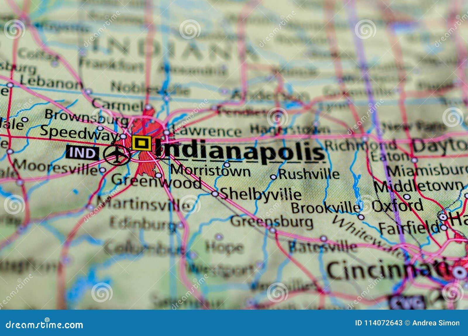 Indianapolis auf Karte