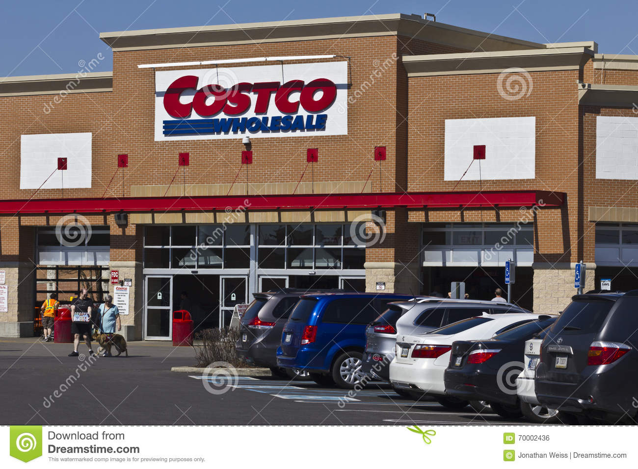 Indianapolis - cerca do abril de 2016: Lugar da venda por atacado de Costco mim