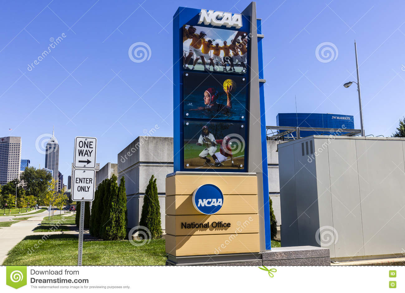 Indianapolis - cerca do outubro de 2016: Matrizes nacionais da associação atlética escolar O NCAA regula programas atléticos IV