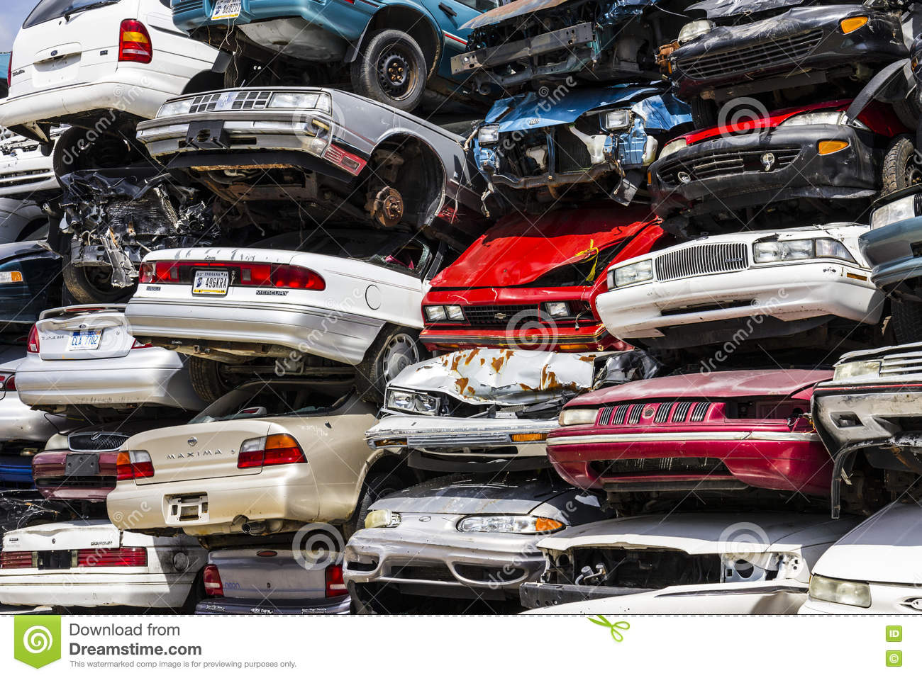 Pile Stacked Junk Cars Stock Photos - 177 Images