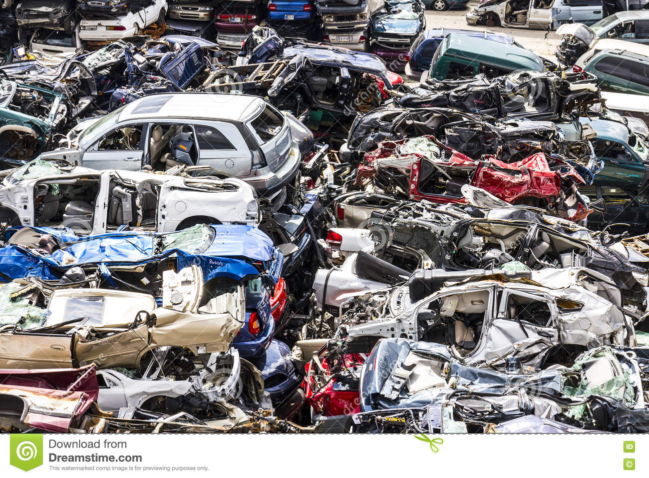 Pile Stacked Junk Cars Stock Photos - 176 Images