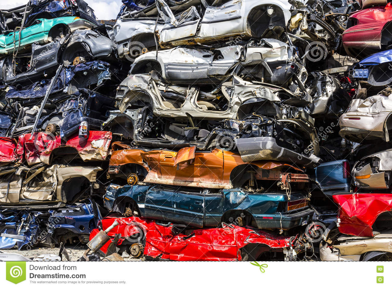 Scrap Metal Prices Cars >> Indianapolis - Circa August 2016 - A Pile Of Stacked Junk Cars - Discarded Junk Cars Piled Up ...